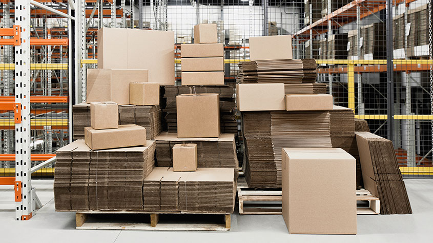 Cascades regular boxes corrugated for the e-commerce